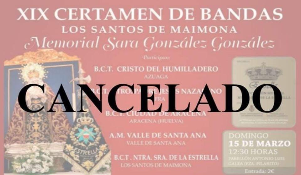 XIX CERTAMEN DE BANDAS, MEMORIAL SARA GONZÁLEZ GONZÁLEZ.